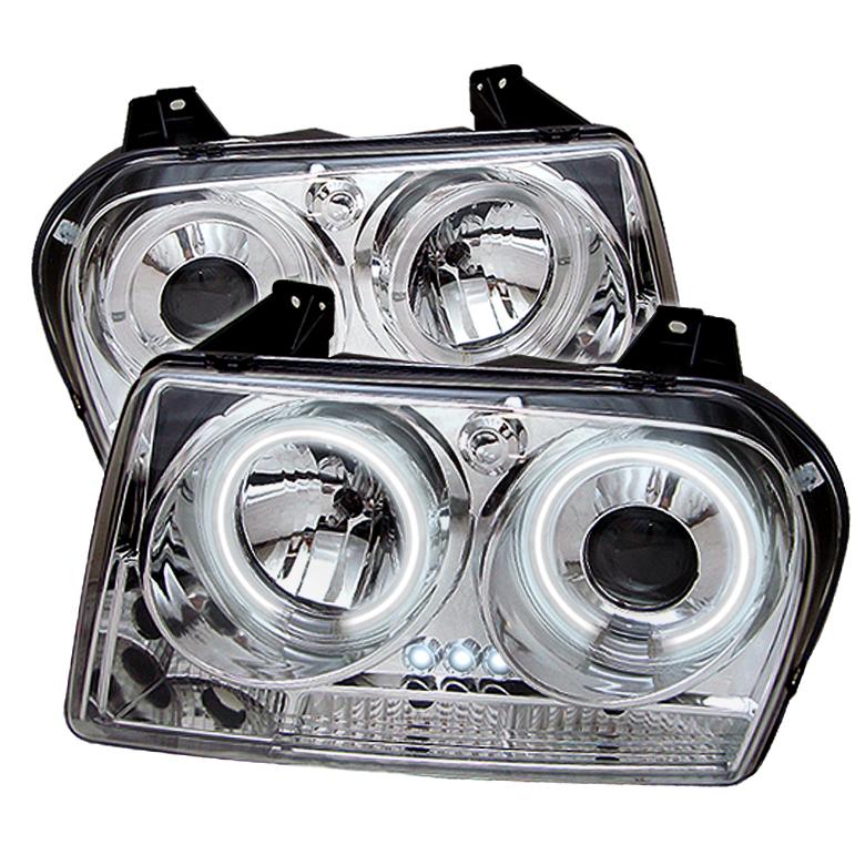 Chrysler 300 (300 Only) 2005-2007 Ccfl LED Projector Headlights  - Chrome