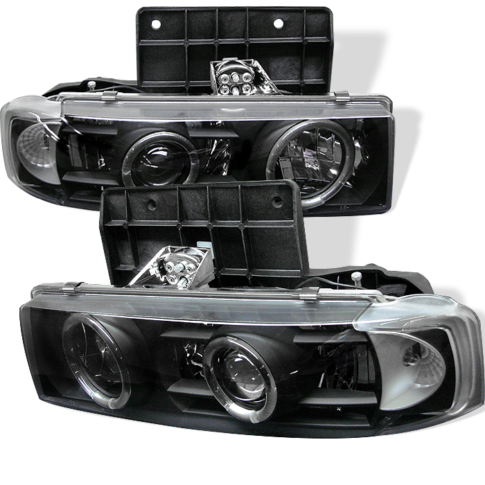 Chevrolet Astro  1995-2005 Halo Projector Headlights  - Black