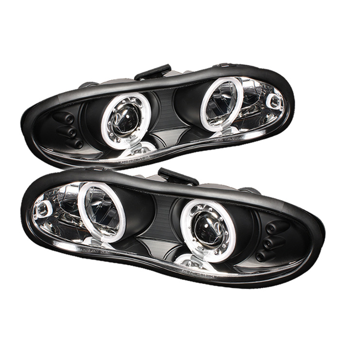 Chevrolet Camaro  1998-2002 Ccfl LED Projector Headlights  - Black