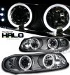 2002 Chevrolet Camaro   Halo LED Projector Headlights  - Black