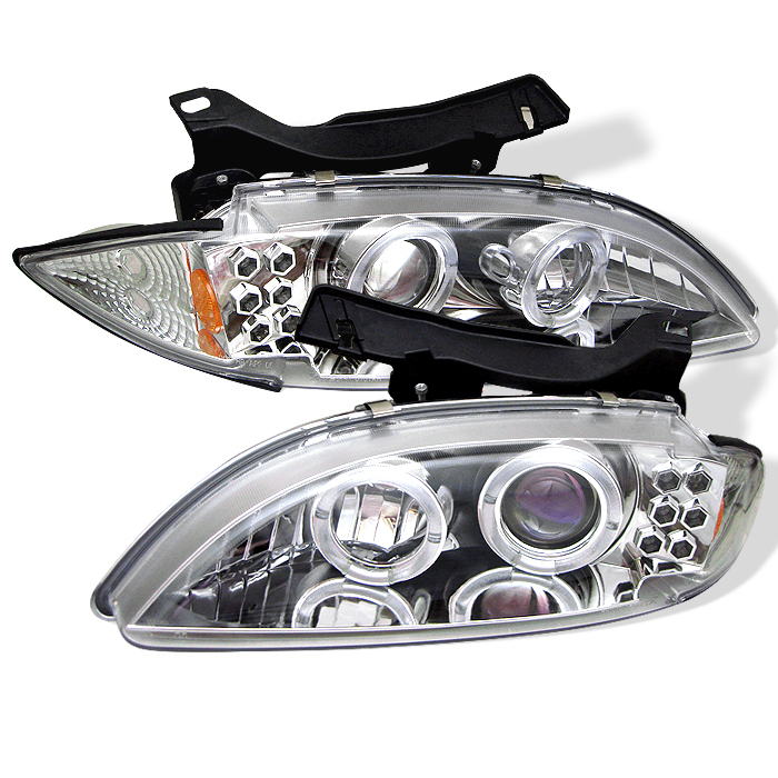 Chevrolet Cavalier  1995-1999 Halo LED Projector Headlights  - Chrome
