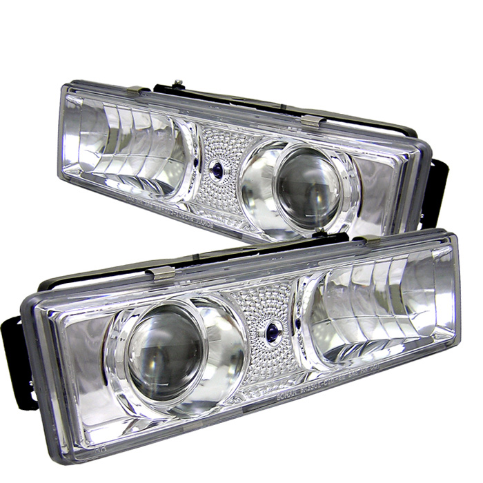 Gmc Full Size Pickup 1500/2500/3500 1992-1994  Projector Headlights  - Chrome