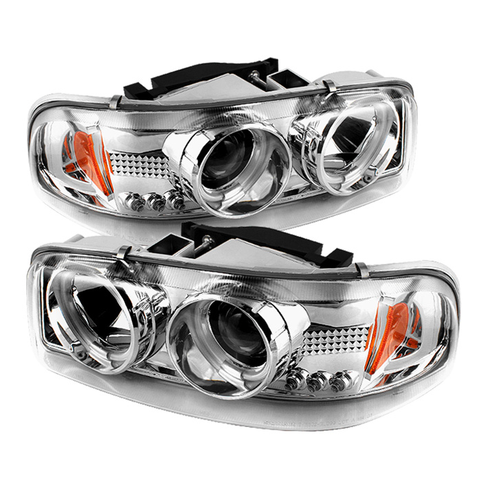 Gmc Sierra 1500/2500/3500 1999-2006 Ccfl LED Projector Headlights  - Chrome