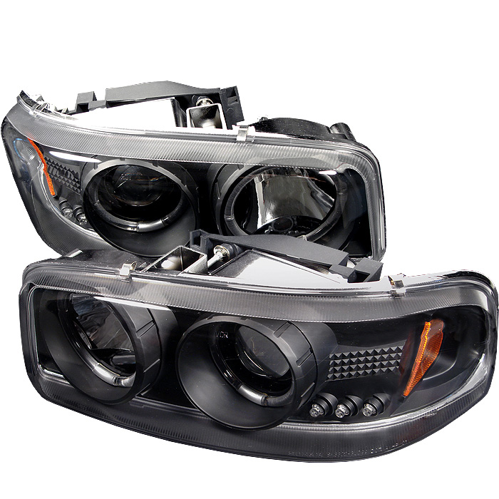 Gmc Yukon /Yukon Xl 2000-2006 Halo LED Projector Headlights  - Black