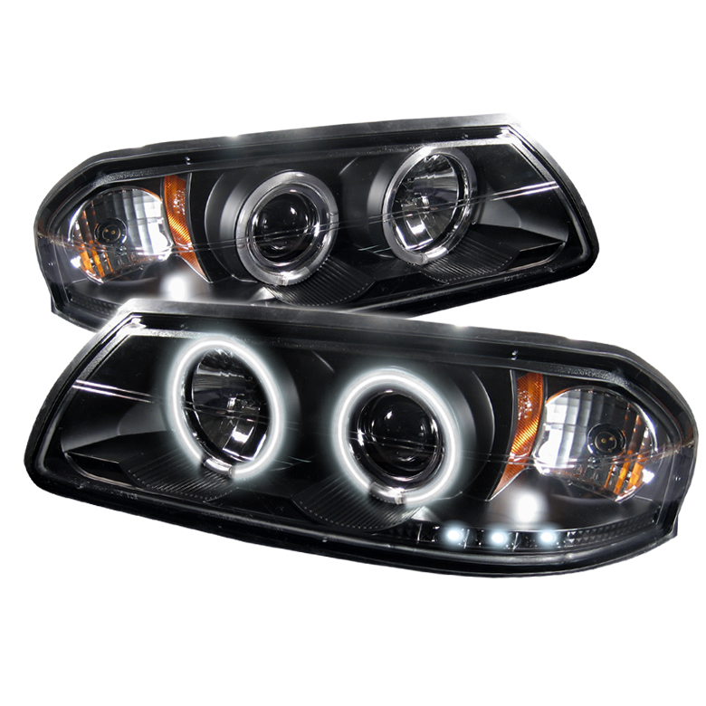 Chevrolet Impala  2000-2005 Ccfl LED Projector Headlights  - Black