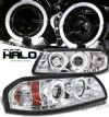 2002 Chevrolet Impala   Halo LED Projector Headlights  - Chrome