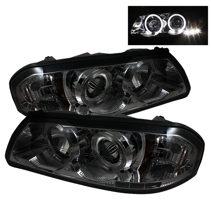 Chevrolet Impala  2000-2005 Halo LED Projector Headlights  - Smoke