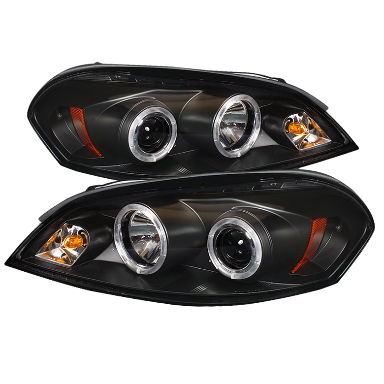 Chevrolet Impala  2006-2010 Halo LED Projector Headlights  - Black