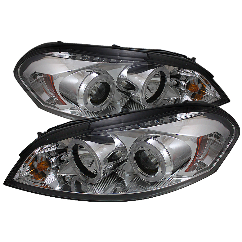Chevrolet Monte Carlo  2006-2007 Halo LED Projector Headlights  - Chrome