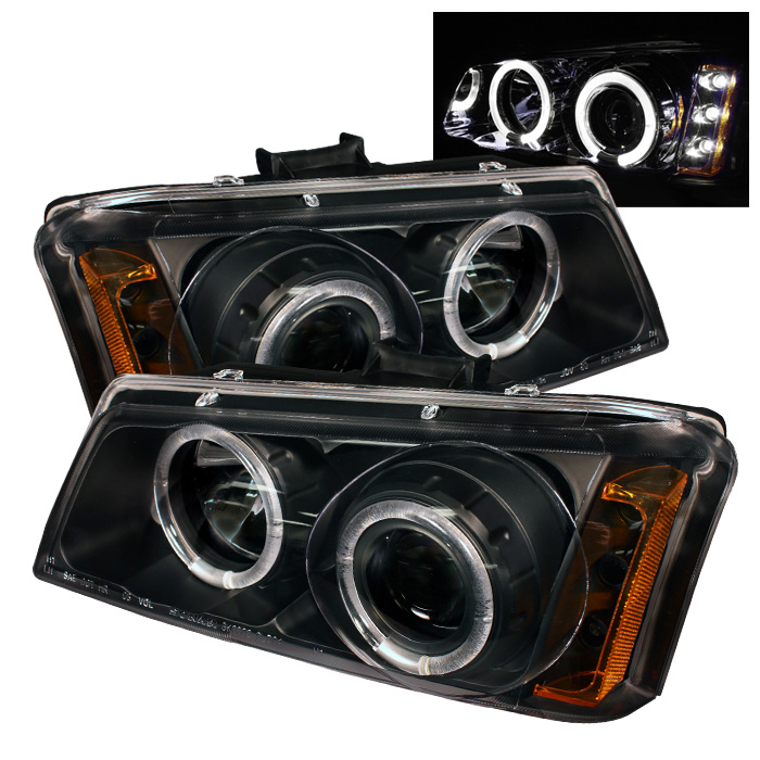 Chevrolet Silverado 1500/2500/3500 2003-2006 Halo LED Projector Headlights  - Black