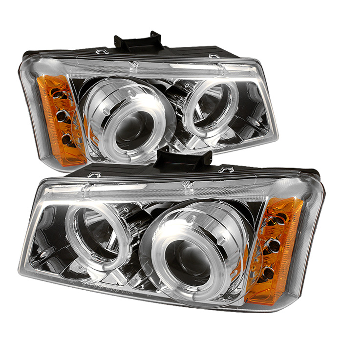 Chevrolet Silverado 1500/2500/3500 2003-2006 Ccfl LED Projector Headlights  - Chrome