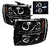 2011 Chevrolet Silverado 1500/2500/3500  Halo LED Projector Headlights  - Black