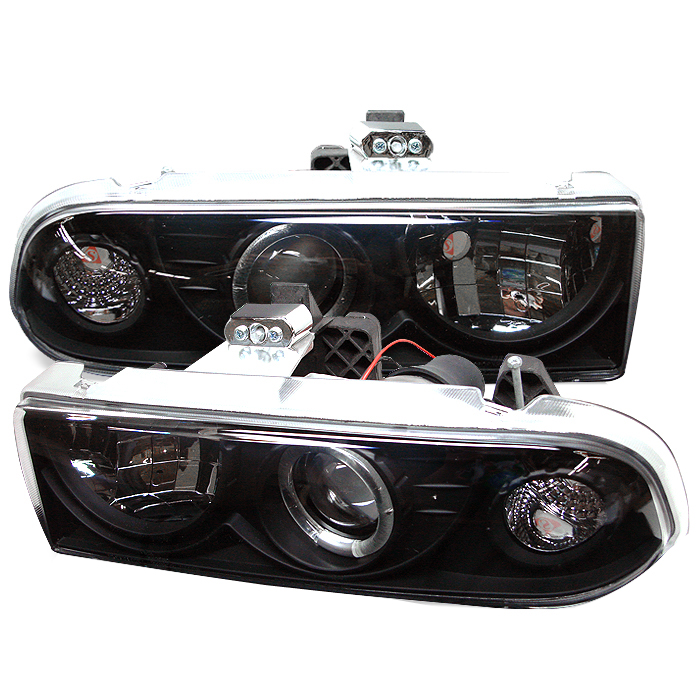 Chevrolet Blazer  1998-2005 Halo Projector Headlights  - Black
