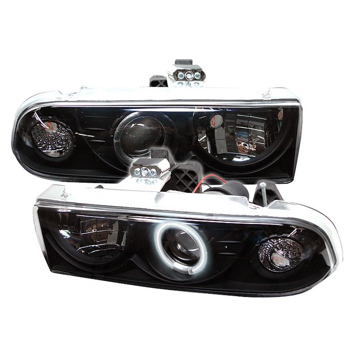 Chevrolet S10 Pickup  1998-2004 Ccfl Projector Headlights  - Black