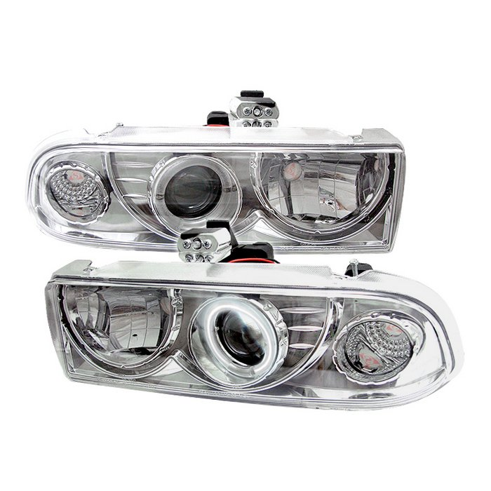 Chevrolet S10 Pickup  1998-2004 Ccfl Projector Headlights  - Chrome