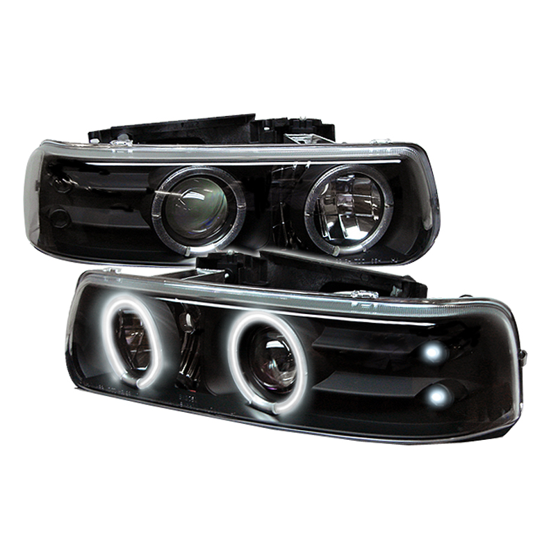 Chevrolet Suburban 1500/2500 2000-2006 Ccfl LED Projector Headlights  - Black