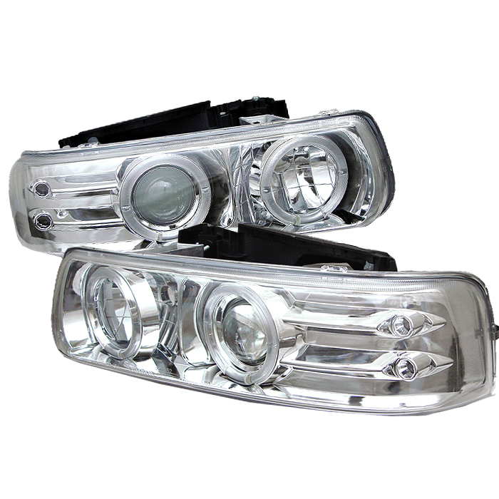 Chevrolet  Silverado 2000-2006  Chrome Halo LED Projector Headlights
