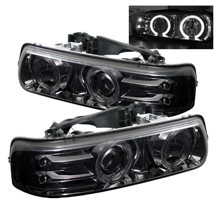 Chevrolet Suburban 1500/2500 2000-2006 Halo LED Projector Headlights  - Smoke