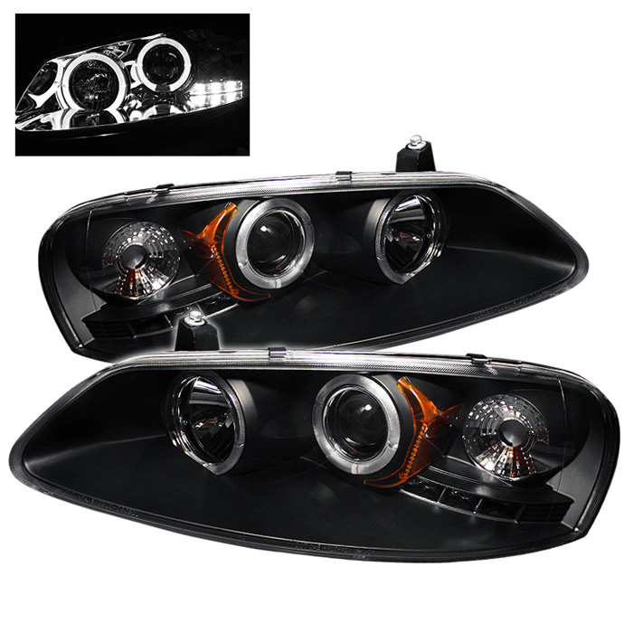 Chrysler Sebring Convertible  2001-2003 Halo LED Projector Headlights  - Black