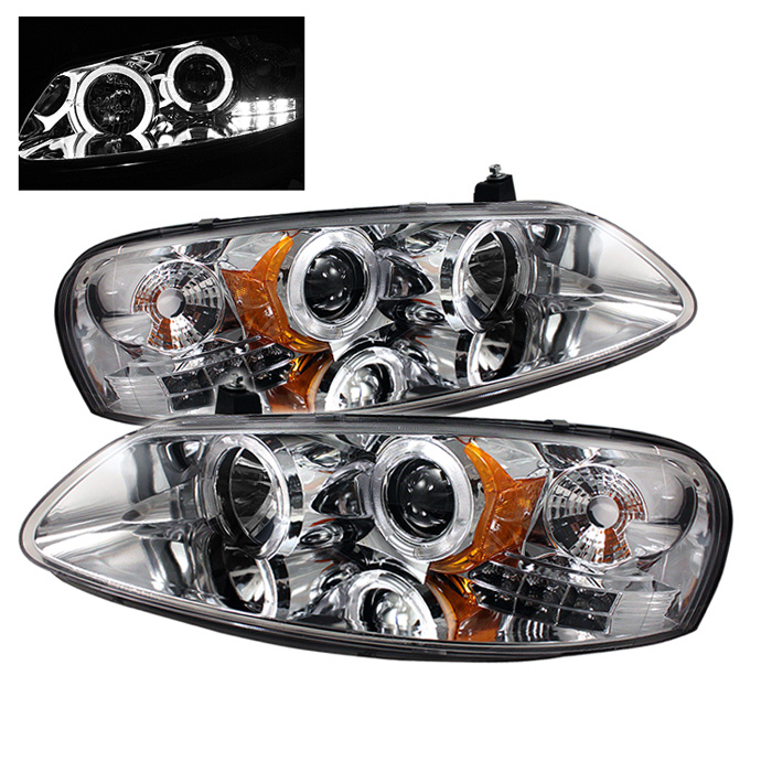 Chrysler Sebring Convertible  2001-2003 Halo LED Projector Headlights  - Chrome