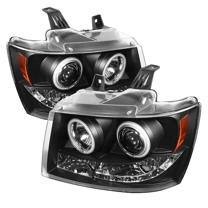 Chevrolet Suburban 1500/2500 2007-2011 Ccfl LED Projector Headlights  - Black