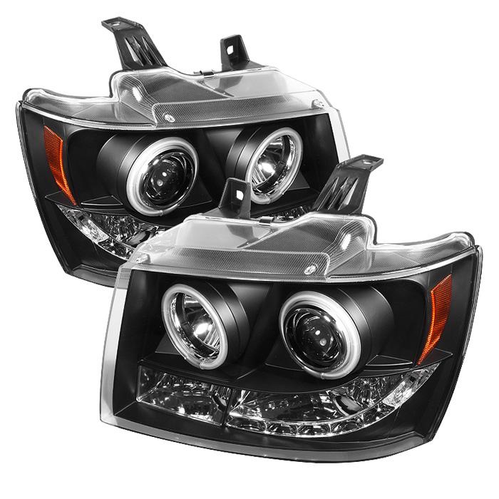 Chevrolet Suburban 1500/2500 2007-2011 Ccfl LED Projector Headlights  - Black