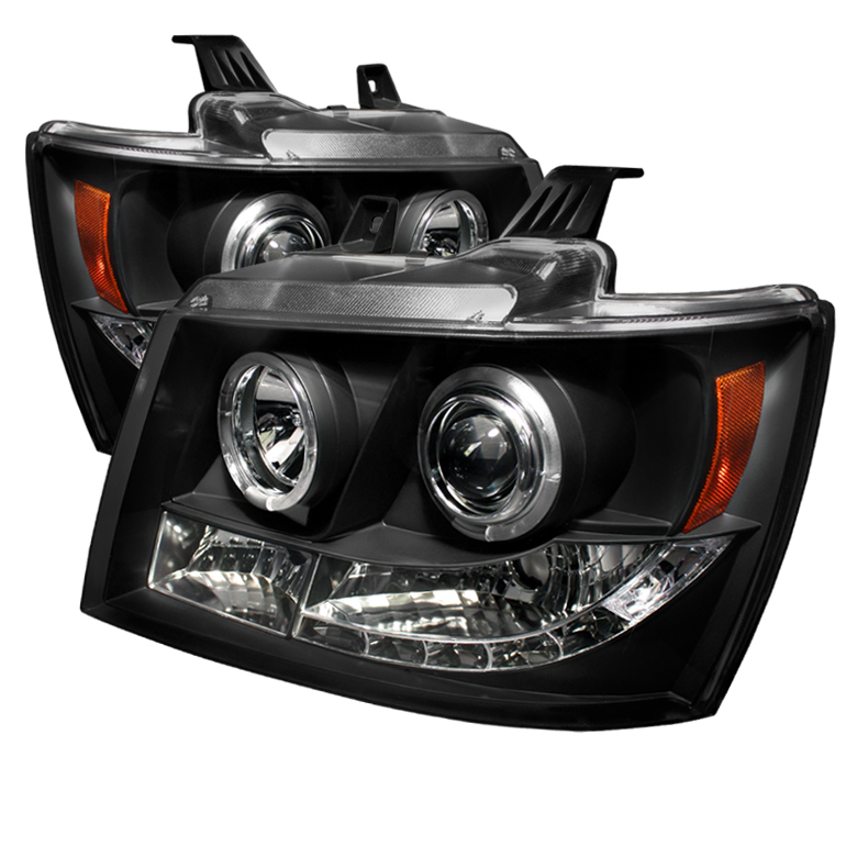 Chevrolet Tahoe  2007-2011 Halo LED Projector Headlights  - Black