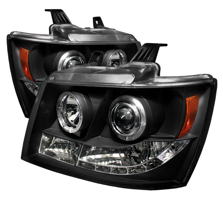 Chevrolet Suburban 1500/2500 2007-2011 Halo LED Projector Headlights  - Black