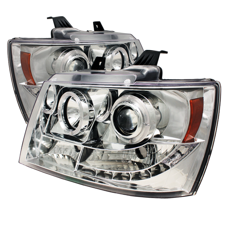 Chevrolet Suburban 1500/2500 2007-2011 Halo LED Projector Headlights  - Chrome