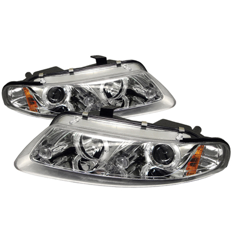 Dodge Avenger 1997-2000 2DR Chrome Halo LED Projector Headlights