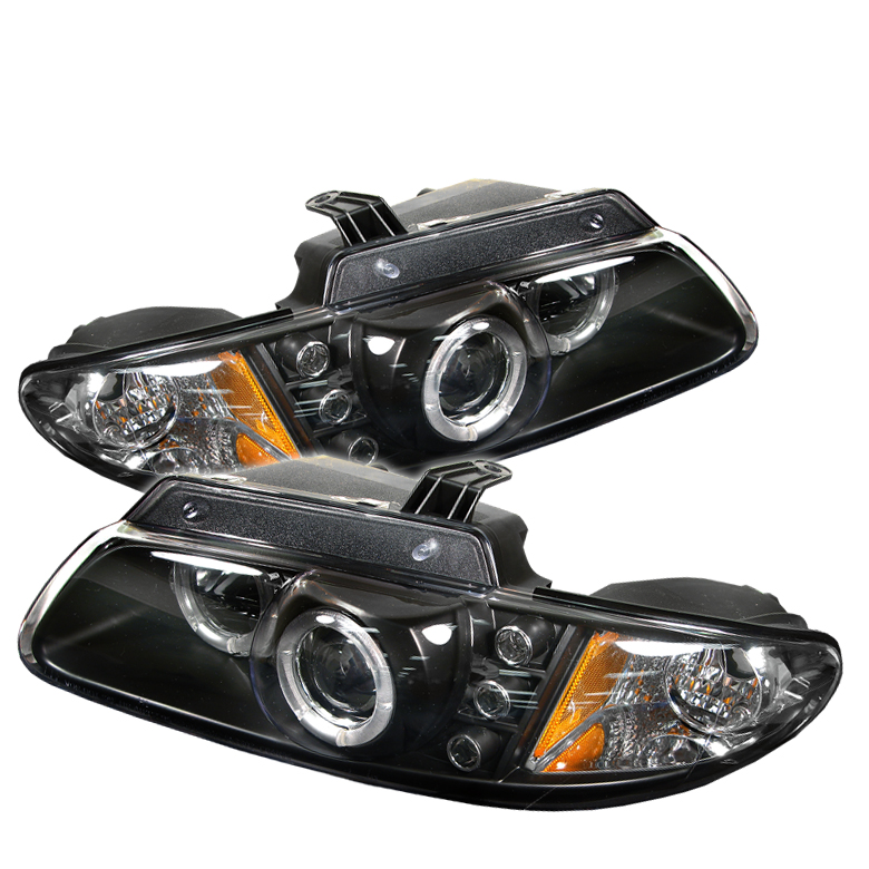 Chrysler Voyager 2000-2002  Black Halo LED Projector Headlights