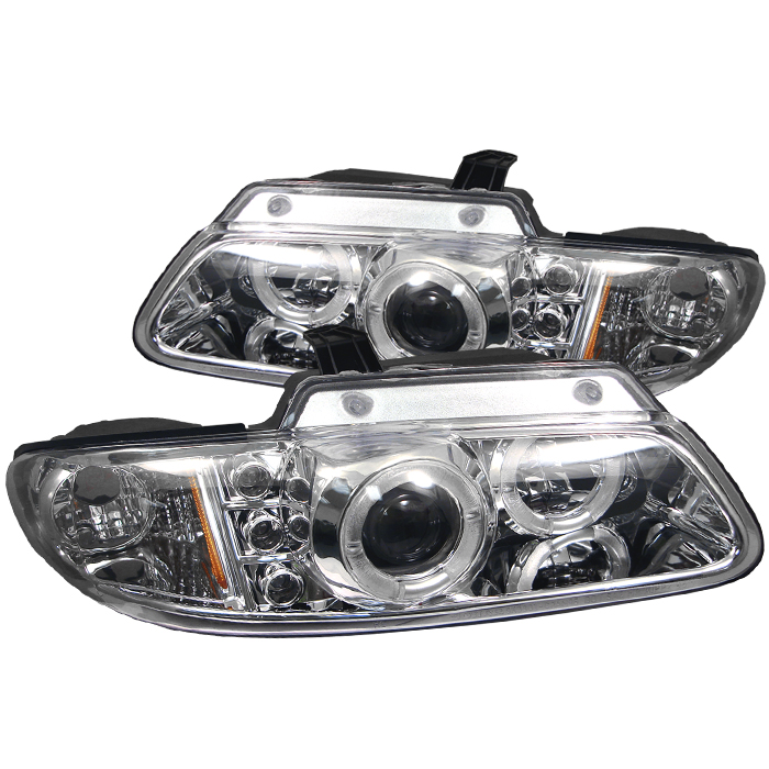 Dodge Caravan 1996-2000  Chrome Halo LED Projector Headlights
