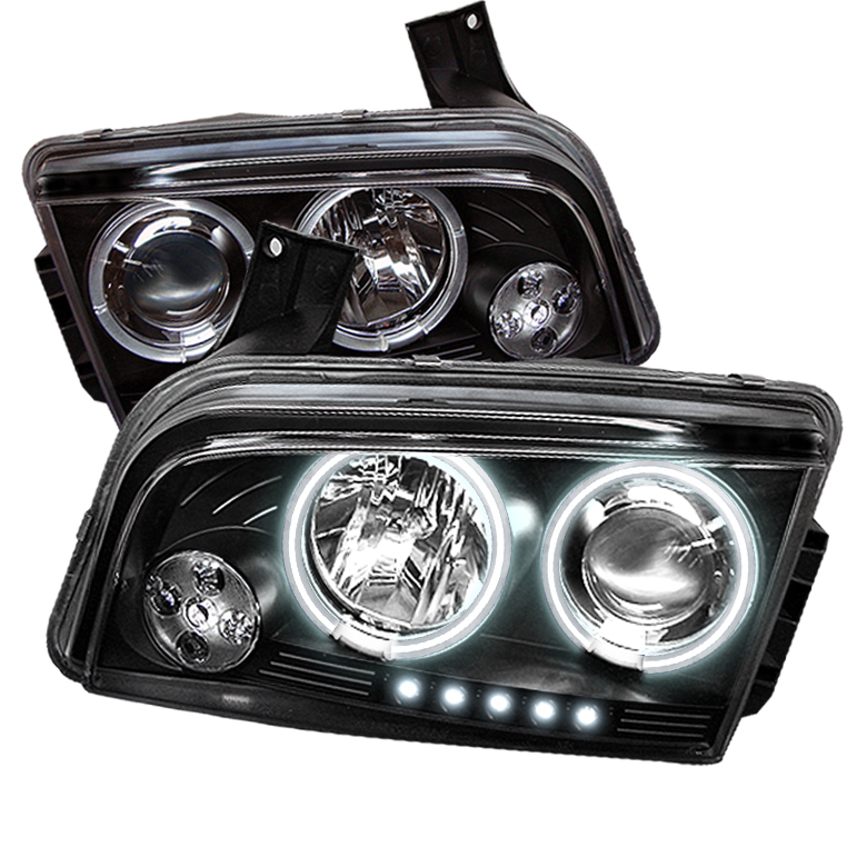 Dodge Charger ( Non Hid ) 2006-2010 Ccfl LED Projector Headlights  - Black