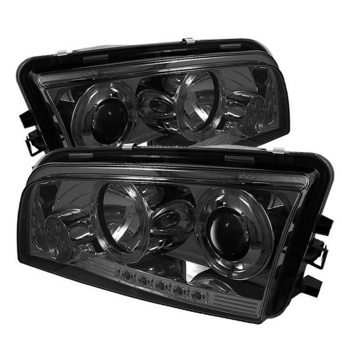 Dodge Charger ( Non Hid ) 2006-2010 Halo LED Projector Headlights  - Smoke