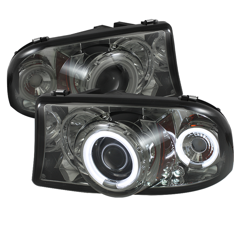 Dodge Durango  1998-2003 1pc Ccfl LED Projector Headlights  - Smoke