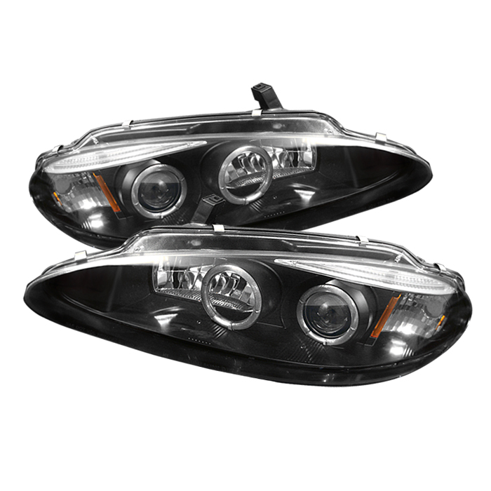 Dodge Intrepid 1998-2004  Black Halo LED Projector Headlights