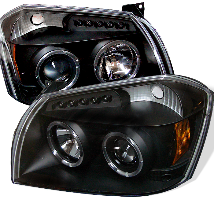 Dodge Magnum  2005-2007 Halo LED Projector Headlights  - Black