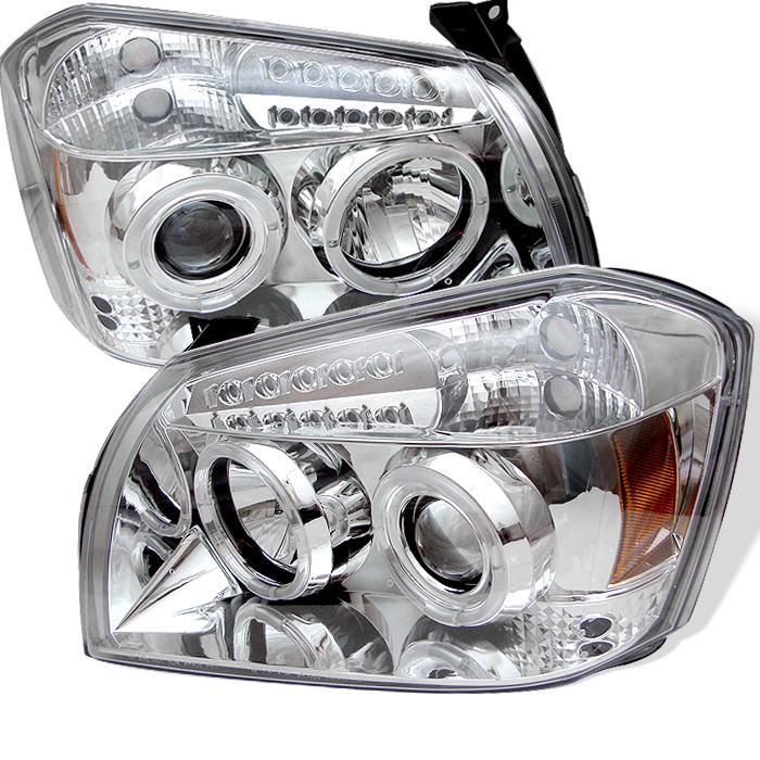 Dodge  Magnum 2005-2007 Chrome Halo LED Projector Headlights