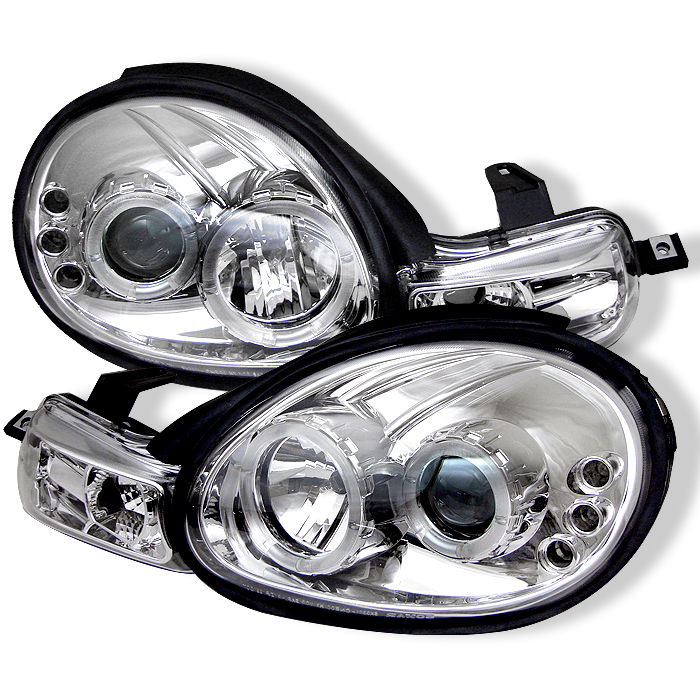 Dodge Neon 2000-2002  Chrome Halo LED Projector Headlights