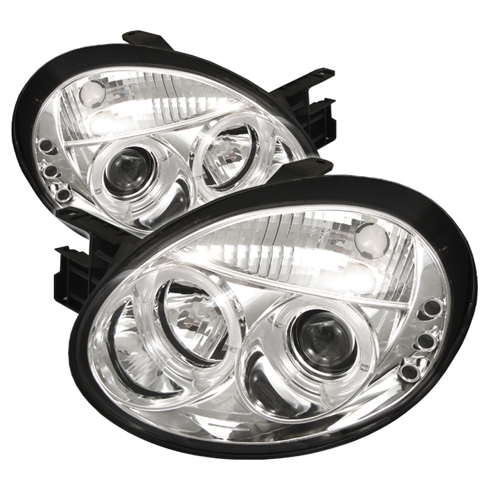 Dodge Neon 2003-2005  Chrome Halo LED Projector Headlights