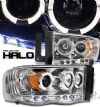 Dodge Ram 2002-2005  Chrome W/ Halo Projector Headlights
