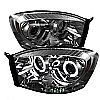 Dodge Ram 1500/2500/3500 2006-2008 Ccfl LED Projector Headlights  - Smoke