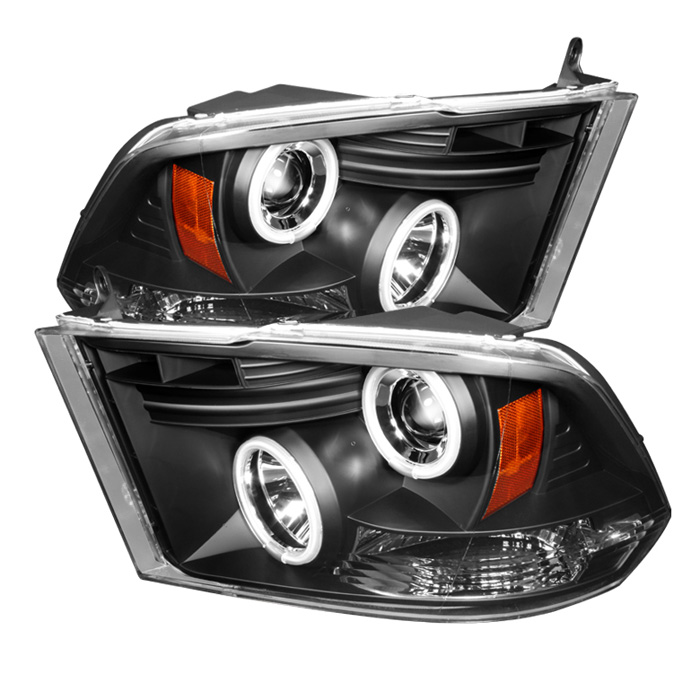 Dodge Ram 1500 2009-2012 Ccfl LED Projector Headlights  - Black