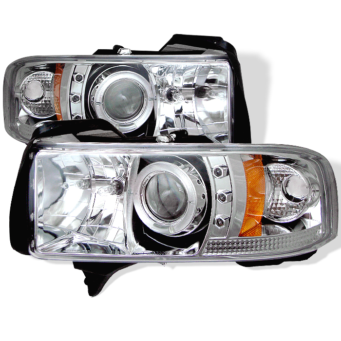 Dodge Ram 1500/2500/3500 1994-2001 1pc Halo LED Projector Headlights  - Chrome