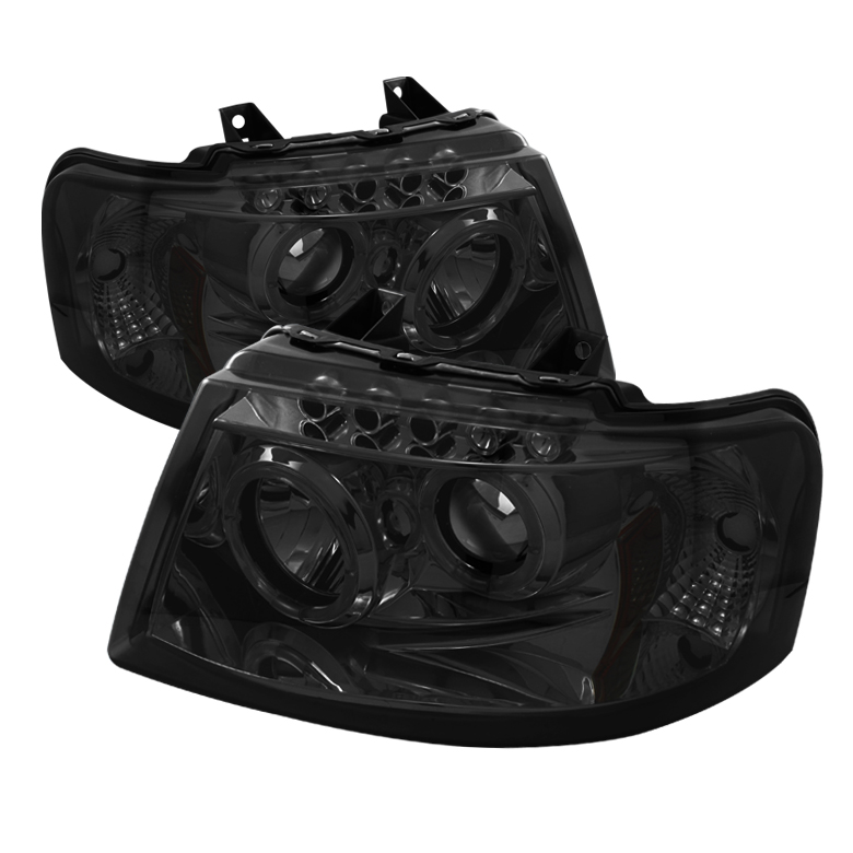 Ford Expedition  2003-2006 Halo LED Projector Headlights  - Smoke