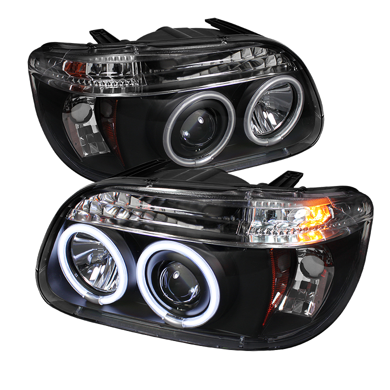 Ford Explorer  1995-2001 1pc Ccfl Projector Headlights  - Black