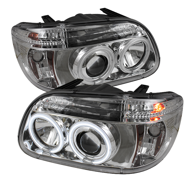 Ford Explorer  1995-2001 1pc Ccfl Projector Headlights  - Chrome