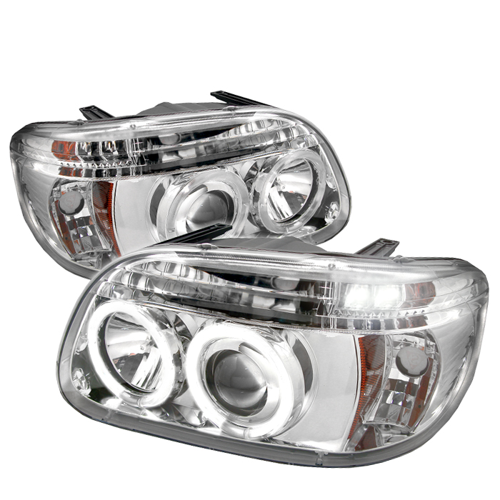 Ford Explorer  1995-2001 1pc Halo Projector Headlights  - Chrome