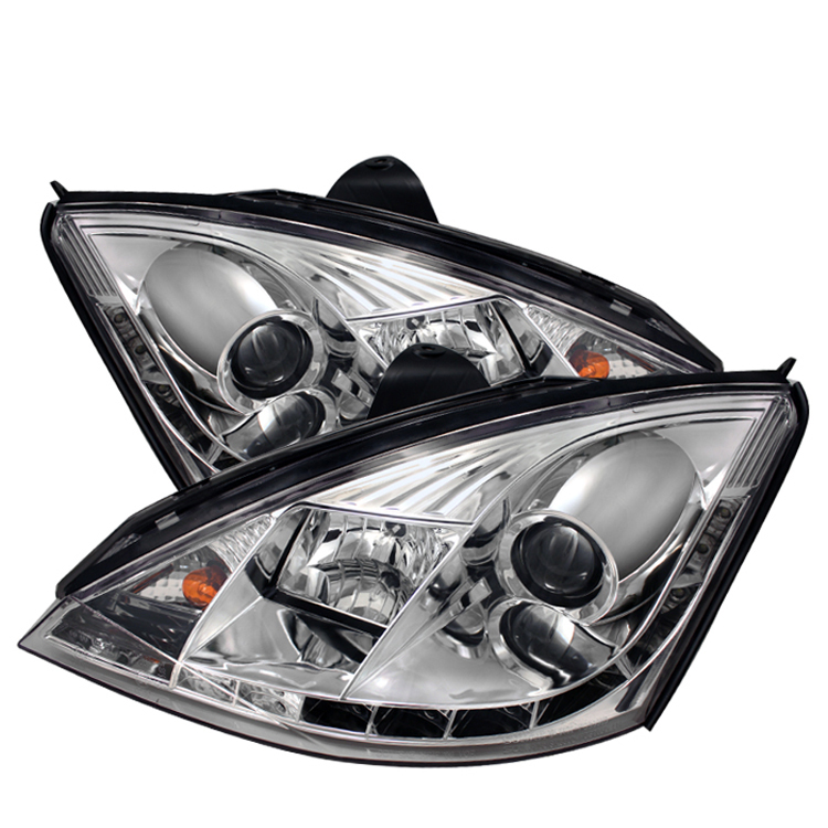 Ford Focus 2000-2004  Chrome LED Projector Headlights