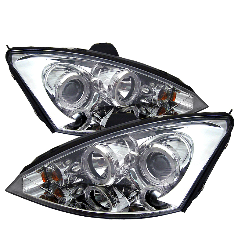 Ford Focus 2000-2004  Chrome  Halo LED Projector Headlights